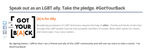 Picture of the LGBT A is for Ally Campaign