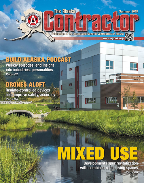 Picture of the Summer 2018 Cover of The Alaska Contractor