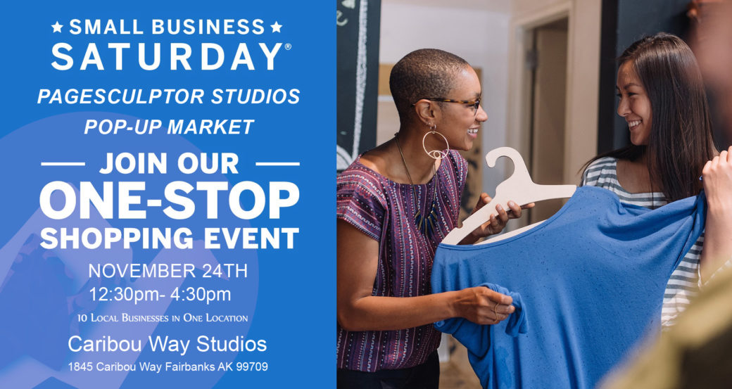 Small Business Saturday Picture with Pop-Up Market Info